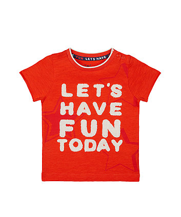 Mothercare Orange Star Have Fun Today T-Shirt