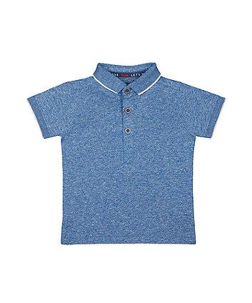 Mothercare Blue Robot Polo T-Shirt