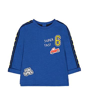 Mothercare Blue Super Fast Car T-Shirt