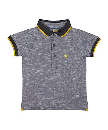Mothercare Grey Star Polo T-Shirt