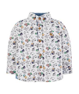 Mothercare Motor Mash Up Multicolour Vehicle Long Sleeve Shirt