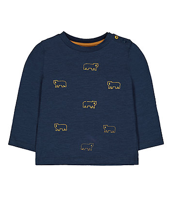 Mothercare Teal Bear T-Shirt