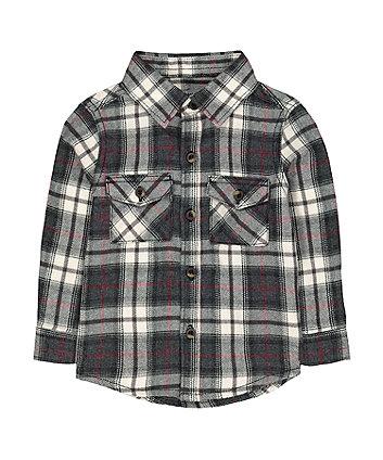 Black And Cream Checked Shirt