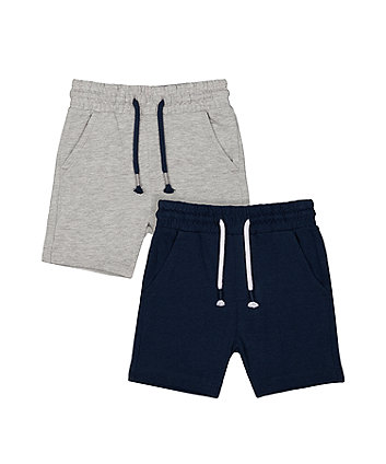 Mothercare Navy And Grey Shorts - 2 Pack