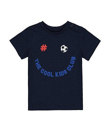 Mothercare Navy Football T-Shirt