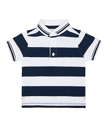 Mothercare Navy Striped Polo Shirt
