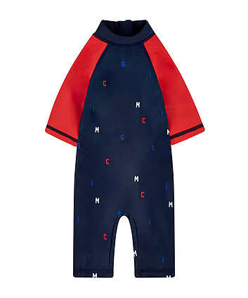 Mothercare Navy And Red Sunsafe