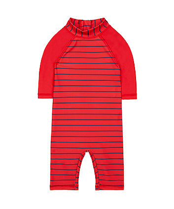 Mothercare Red Striped Sunsafe