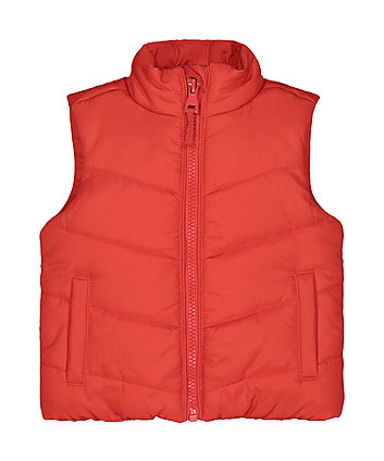 Red Fleece-Lined Gilet