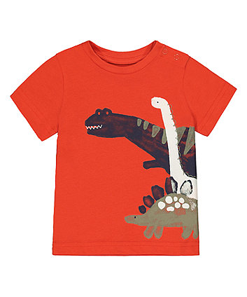 Mothercare Orange Dinosaur T-Shirt