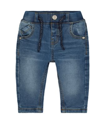 Mothercare Mid-Wash Denim Jeans With Jersey Lining