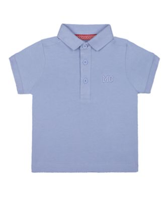Mothercare MC61 Blue Short Sleeve Polo Shirt