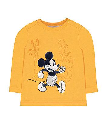 Mothercare Disney Mickey Friends Mustard T-Shirt