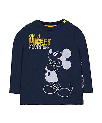 Mothercare Disney Mickey Mouse Friends Navy T-Shirt