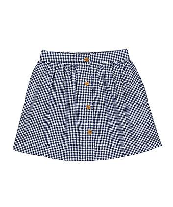 Mothercare Blue Gingham Skirt
