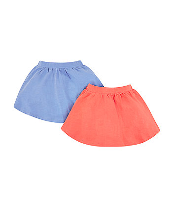Mothercare Blue And Coral Skirts - 2 Pack