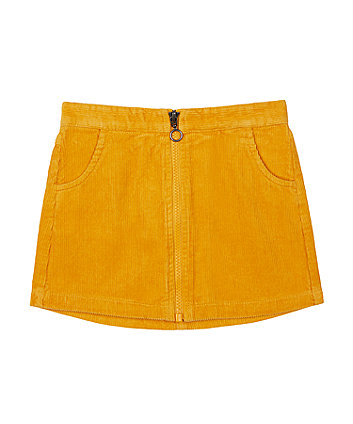 Mustard Cord Skirt