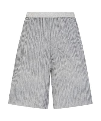 Mothercare Soft Blush Sparkly Silver Lurex Plisse Culottes