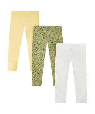 Mothercare Peace And Art Grey, Yellow And Spot Leggings - 3 Pack