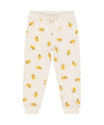 Mothercare Peace And Art White Leopard Cat Joggers