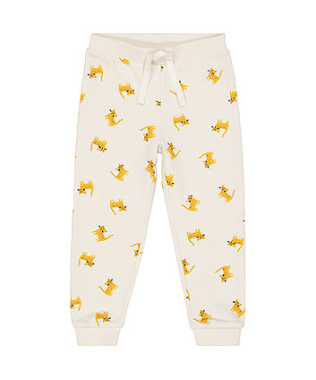 Mothercare White Leopard Cat Joggers