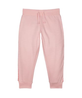 Mothercare Soft Blush Pink Side-Piping Joggers
