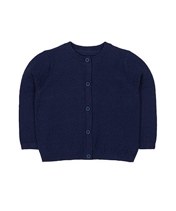 Mothercare Navy Knit Pointelle Cardigan