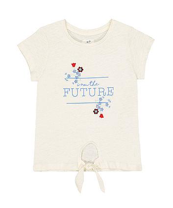 Mothercare White Future Tie-Hem T-Shirt