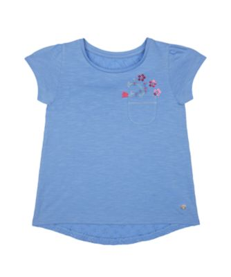 Mothercare Flower Market Pocket Broderie Back Short Sleeve T-Shirt