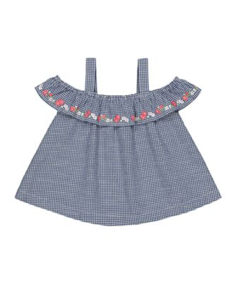 Mothercare Flower Market Gingham Shoulder Blouse