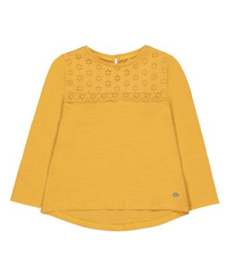 Mothercare Peace And Art Mustard Long Sleeve T-Shirt