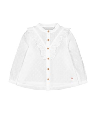Mothercare Prairie Dobby Frill Long Sleeve Blouse