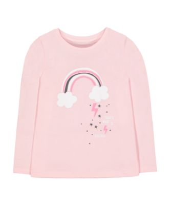 Mothercare Pretty Mash Up Rainbow Pink Long Sleeve T-Shirt