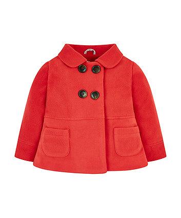 Mothercare Red Fleece Swing Jacket