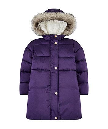Purple Borg-Lined Jacket