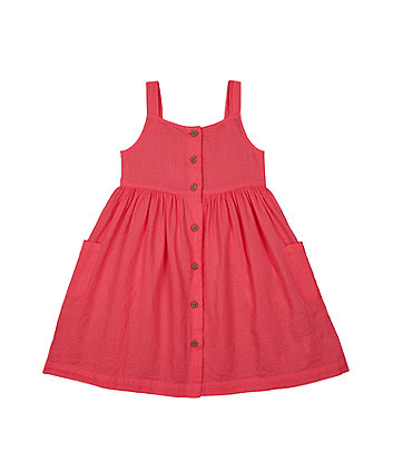 Mothercare Pink Strap A-Line Dress