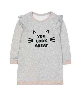 Mothercare Peace And Art Slogan Long Sleeve Dress