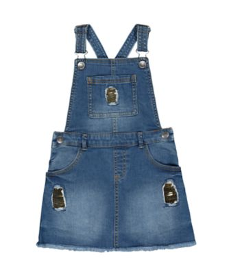 Mothercare Peace And Art Denim Embroidered Pinny Dress