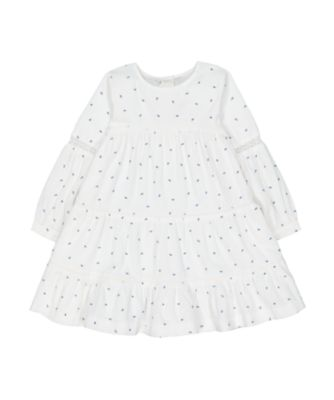 Mothercare Prairie Embroideried Tier Cord Long Sleeve Dress