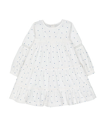 Mothercare Cream Tiered Floral Dress
