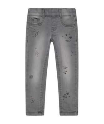 Mothercare Soft Blush Grey Printed Skinny Jeggings