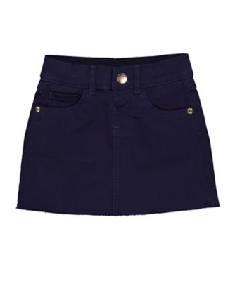 Mothercare Prairie Navy Frayed Edge Skirt