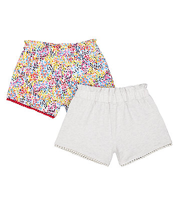 Mothercare Pink Blossom Shorts - 2 Pack