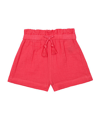 Mothercare Pink Cotton Shorts