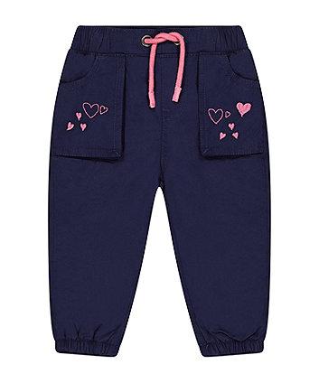 Mothercare Navy Heart Poplin Trousers