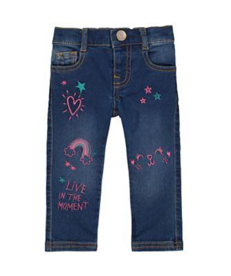 Mothercare MC61 Doodle Cat Jeans