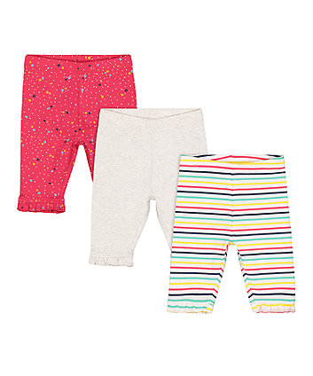 Mothercare Stripe And Spot Leggings - 2 Pack