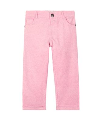 Mothercare Pretty Mash Up Pink Glitter Corduroy Trousers