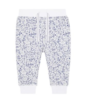 Mothercare Promo White And Blue Ditsy Floral Joggers