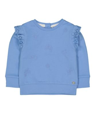 Mothercare Flower Market Blue Embroidered Floral Sweat Top